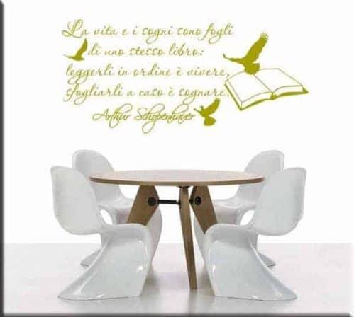decorazione adesiva wall sticker citazione Schopenhauer