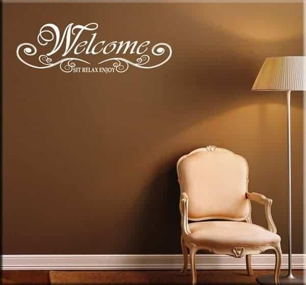 decorazione adesiva welcome