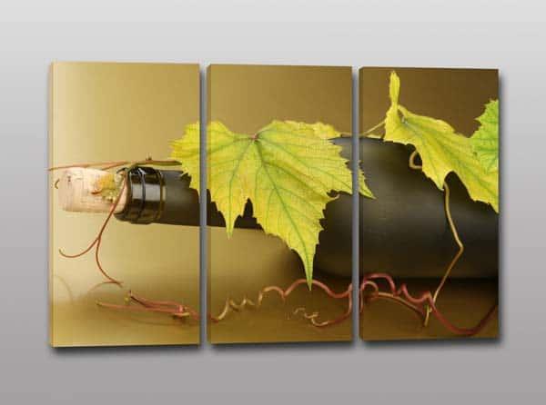 quadri moderni bottiglia vino
