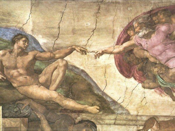affresco creazione di adamo riproduzione su quadri