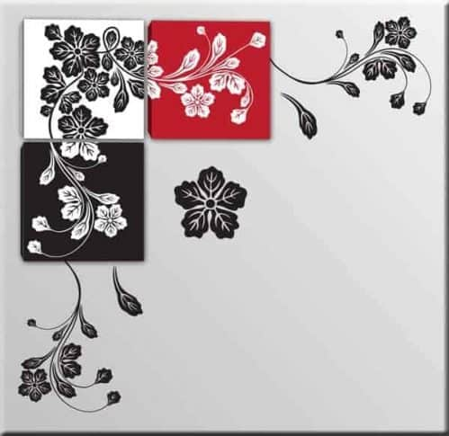 quadri moderni e wall stickers floreali
