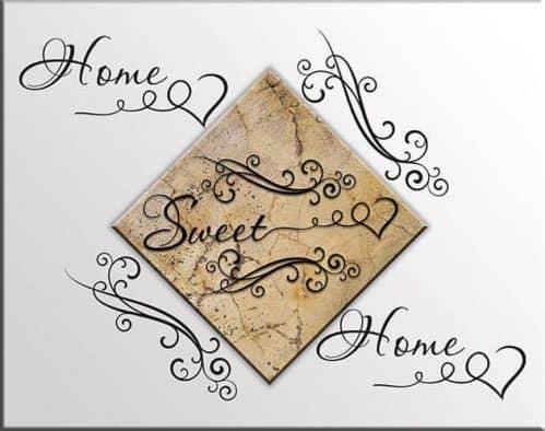 quadro SWEET HOME adesivi murali