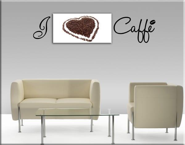 quadro adesivi murali caffè bar