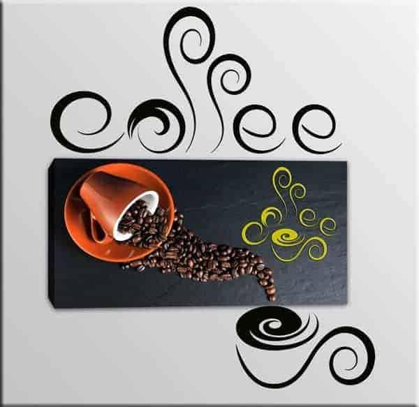 quadro adesivi murali coffee bar