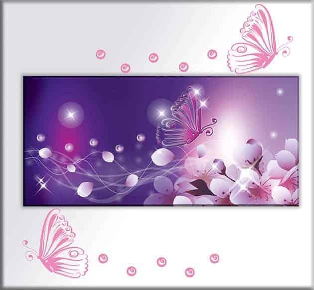 quadro adesivi murali farfalle