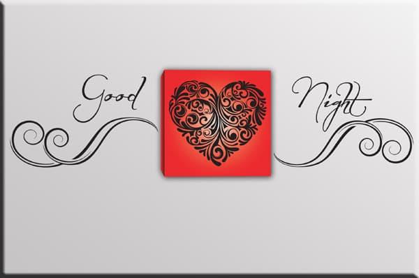 quadro cuore adesivi murali