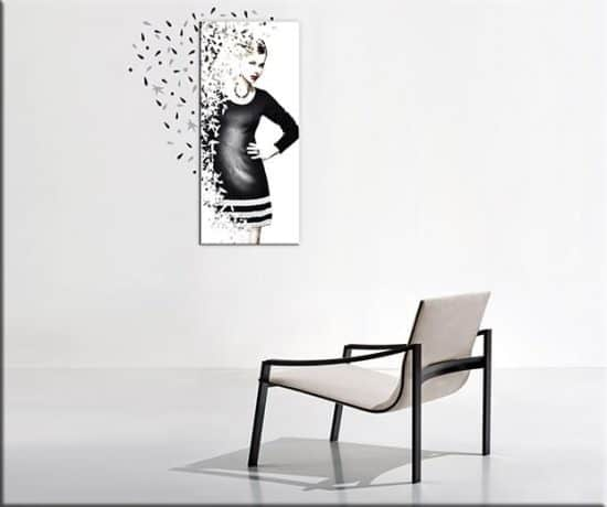 quadro donna wall stickers foglie