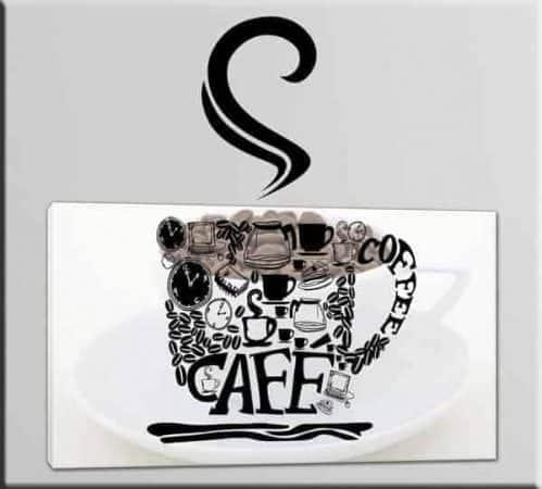 quadro e adesivo murale caffè bar