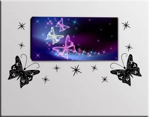 quadro farfalle adesivi murali