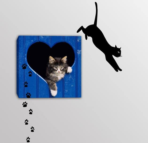 quadro gatto adesivi murali