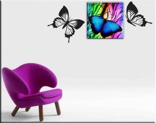 quadro moderno adesivi murali farfalle