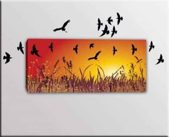 quadro moderno adesivi murali uccelli