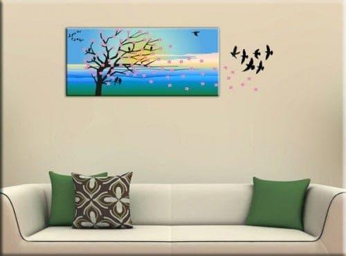 quadro moderno albero adesivi murali