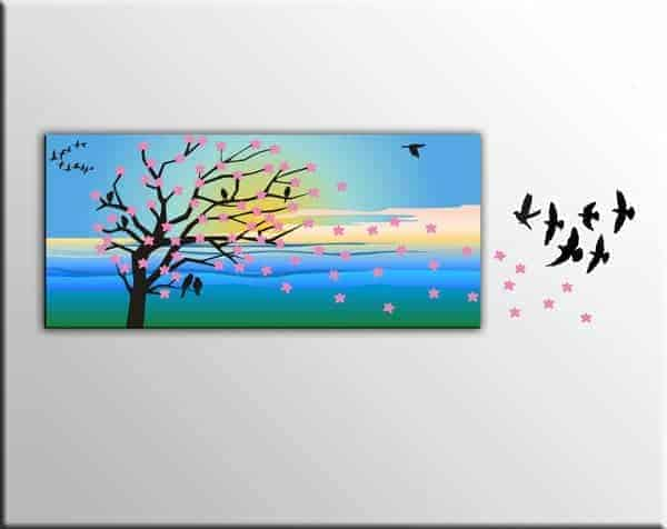 quadro moderno albero wall stickers