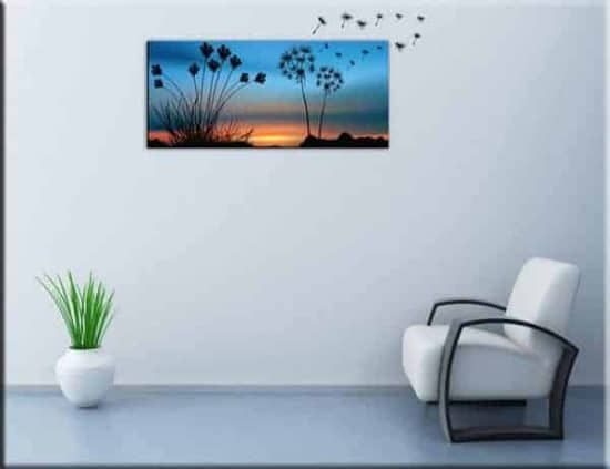 quadro moderno e adesivi murali soffioni