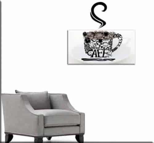 quadro moderno e wall sticker caffè bar