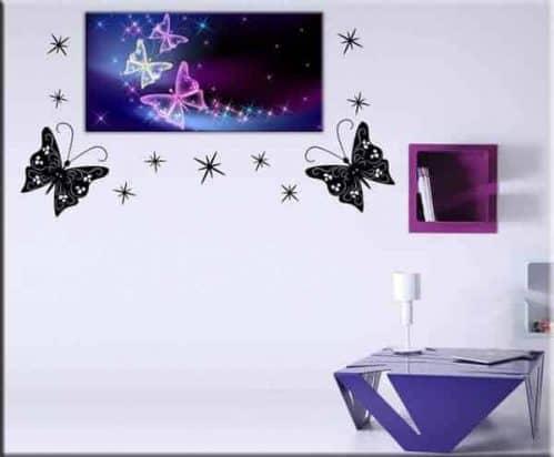 quadro moderno farfalle wall stickers