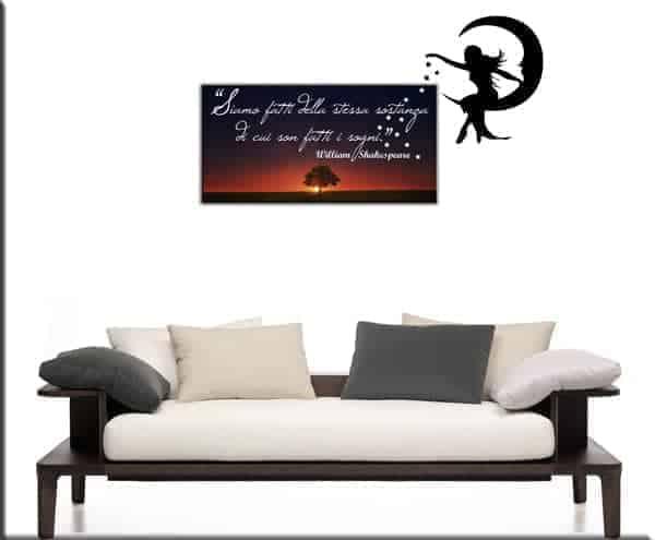 quadro moderno frase Shakespeare e wall stickers