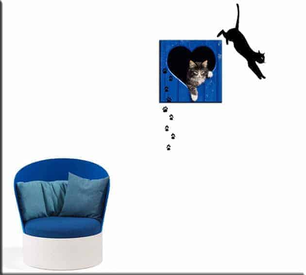 quadro moderno gatto wall stickers