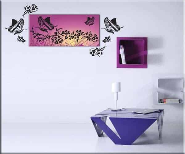 quadro moderno wall stickers farfalle