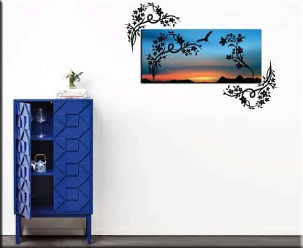 quadro moderno wall stickers fiori