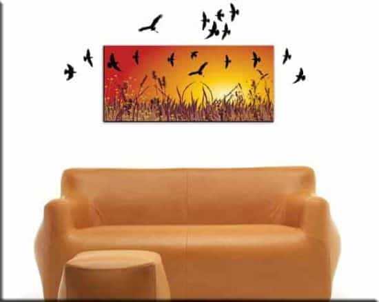 quadro moderno wall stickers uccelli