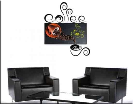 quadro modernoo e wall stickers coffee