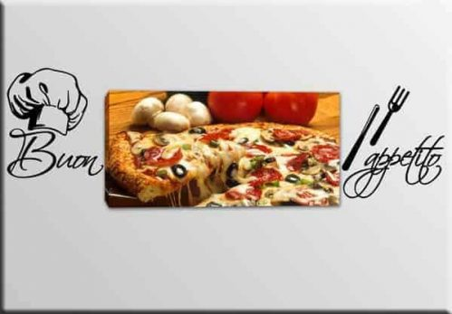 quadro pizza adesivi murali cucina