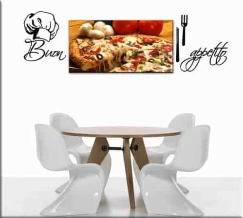 quadro pizza decorazioni murali cucina