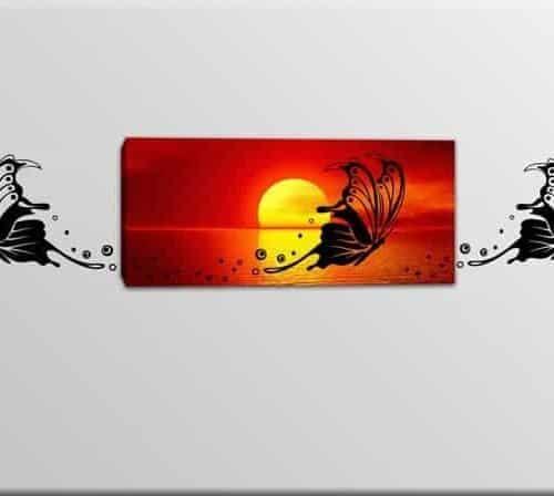 quadro tela adesivi murali farfalle