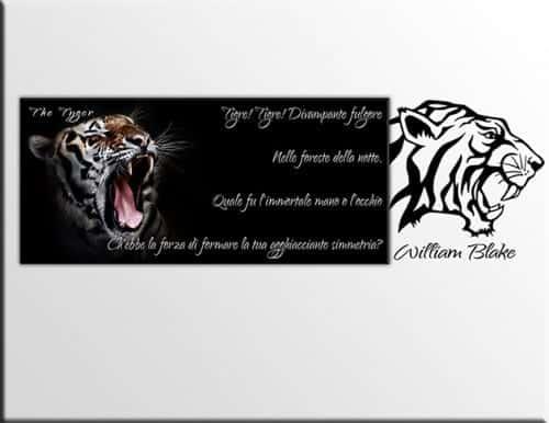 quadro tigre adesivi murali william blake