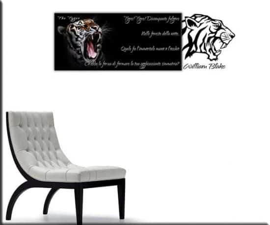 quadro tigre wall stickers william blake
