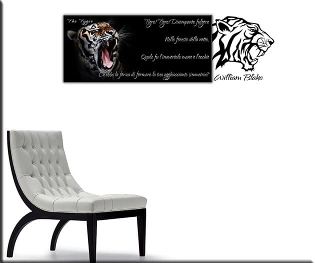 quadro tigre wall stickers william blake