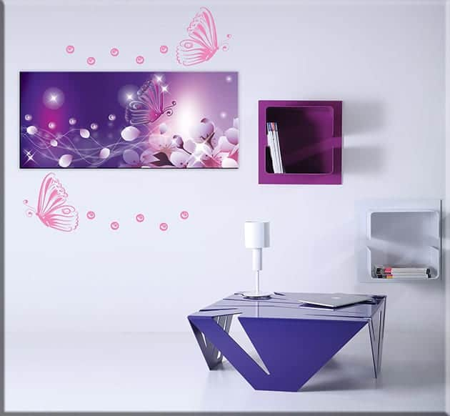 quadro wall stickers farfalle