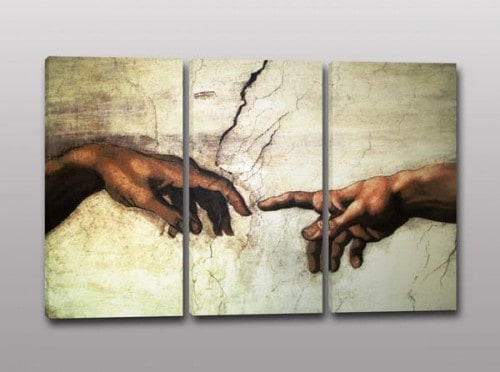 tris quadri moderni creazione adamo