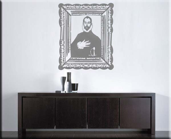 wall sticker El Greco cavaliere