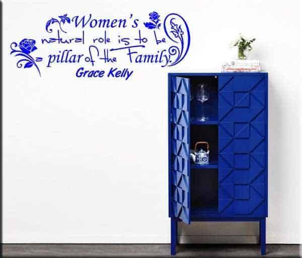 wall sticker frase Grace Kelly