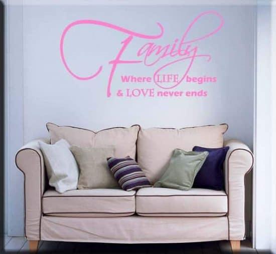 wall sticker frase family