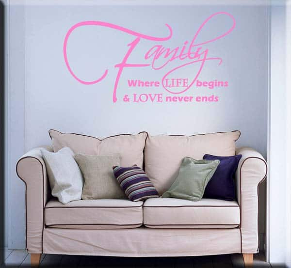 wall sticker frase family