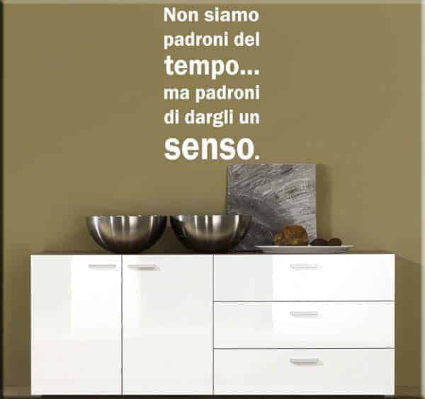 wall sticker frase tempo