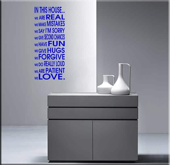 wall sticker house frase