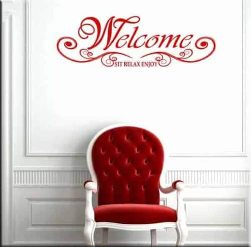 wall sticker welcome