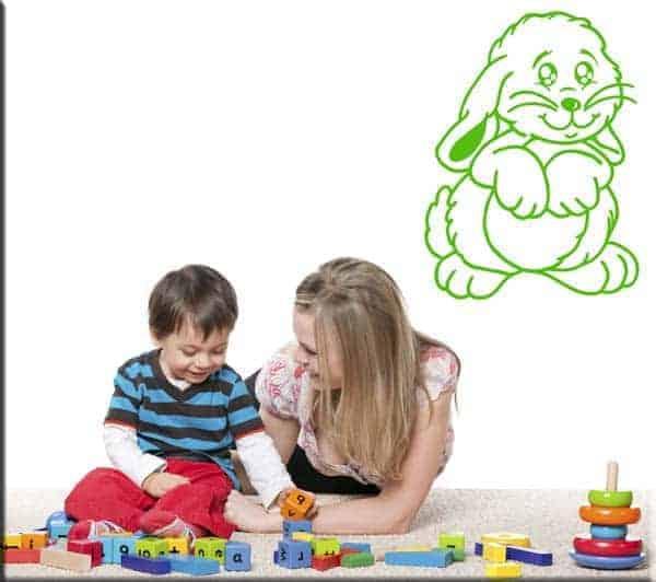 wall stickers bambini coniglio coniglietto