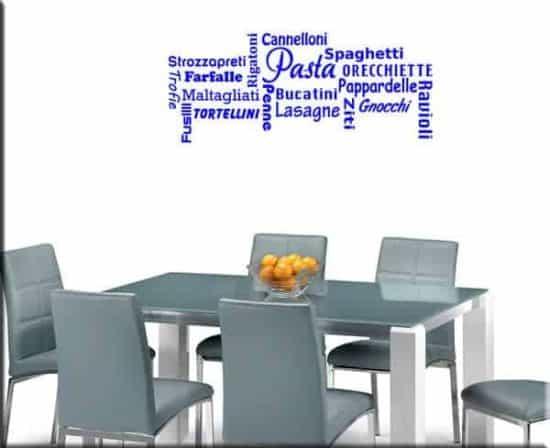 wall stickers cucina pasta spaghetti
