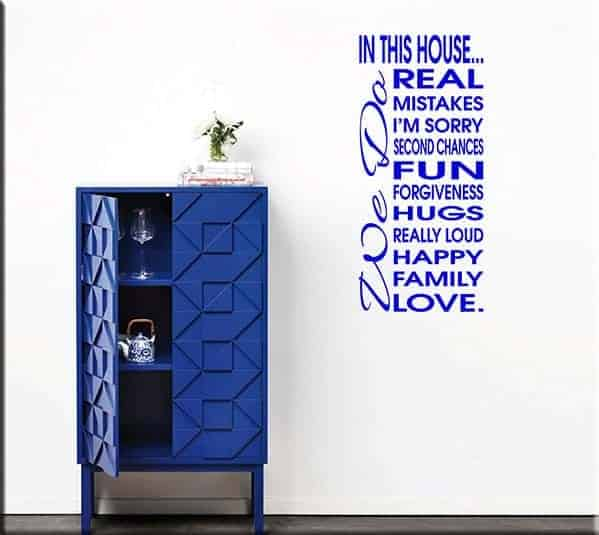 wall stickers frase house