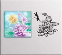 wall stickers quadro moderno fiori