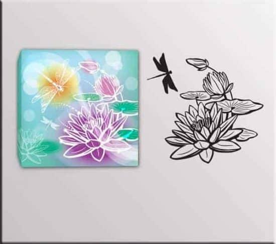 wall stickers quadro moderno fiori