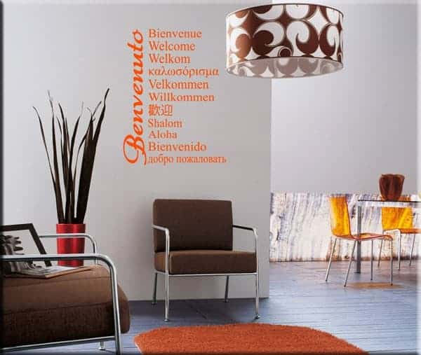 wall stickers welcome benvenuto