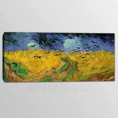 Quadro riproduzione Van Gogh : Campo di grano con volo di corvi