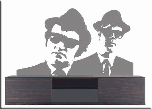 adesivi da parete blues brothers